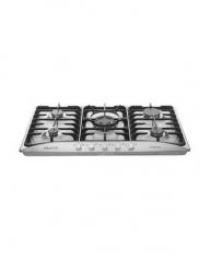 Polystar 5 Burners Built in Table Gas Cooker - PVWA0788 silver
