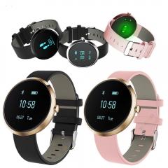 Smart Wrist Band Watch Blood Pressure Heartrate Bracelet Life Waterproof Clock Wristwatch black 1