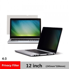 12 inch Privacy Filter Anti-Spy screen Protector film for 4:3 Laptop 245mm*184mm