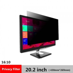 20.2 inch Privacy Filter LCD Screen Protective film for 16:10 Widescreen Computer 430mm*269mm