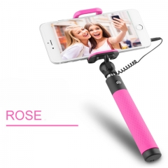Universal Selfie Stick Wired Mini Palo Selfie For Android Monopod Rose