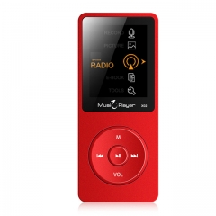 Original MP4 Player 8GB Speaker Voice recorder,FM,E-Book,Clock,Video USB MP4 Music Player Red