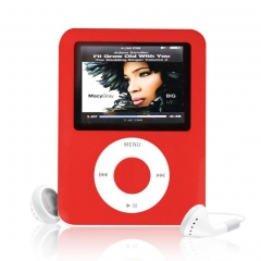 Factory Price USB Digital MP3 MP4 Player Slim 8GB 1.8 inch LCD Media Video Game Movie Radio red