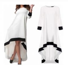 Cotton Maxi Dress Casual Dresses Pockets Vestidos white white s