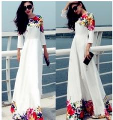 Formal Wedding Long Maxi Dress white white s