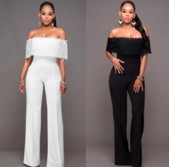 legant rompers womens jumpsuits black Bodysuit women sexy Off Shoulder party Playsuits white s