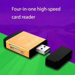 Four in One High Speed Card Reader   Multifunction TF Micro SD Card Mobile Phone Camera Memory Card red