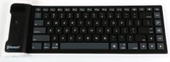 Mobile phone flat computer General wireless Bluetooth waterproof Foldable Silica gel soft keyboard black one size
