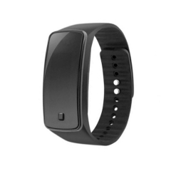 LED  Wristband Watch Waterproof Movement Touch Table men and Women Student Couple digital Watch black one size