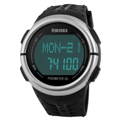 Fashion Trend Waterproof digital Watch Personality Step Heart rate Movement  Digital Watch black one size