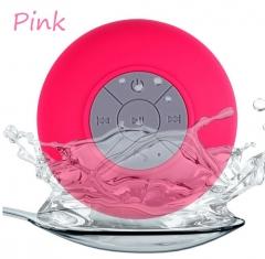 BTS-06 Waterproof Wireless Bluetooth Handsfree Mic Suction Mini Speaker Shower C White 6W BTS-06 Pink 6W one size