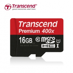 Transcend 16G/32G/64G(UHS-I) 400X 60MB micro SD TF  Memory Card Class 10 Red UHS-I 16G