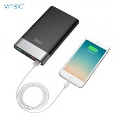 VINSIC VSPB303 QC 3.0 20000mAh Fast Charging Power Bank Type-C Micro USB Dual Input / Output Black 20000mah