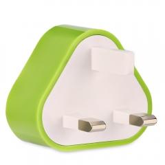 Triangle Shape Universal Dual USB Port Home Wall Power Supply Adapter Charger UK PLUG