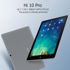 Chuwi Windows10+Android5.1 4+64G 2 in 1 Ultrabook Tablet PC EU Plug Silver Hi10 Pro 10.1
