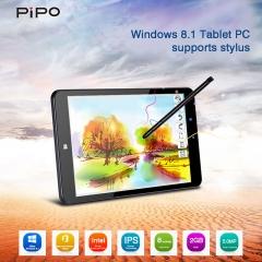 "PIPO W5 8"" 1280*800 Windows 8.1 Intel Z3735F Dual Cameras WiFi External 3G Tablet PC UK Plug Black"