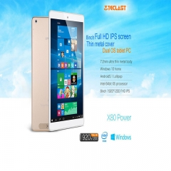 Teclast X80 Power Tablet PC  Windows 10 + Android 5.1 8.0 inch IPS Screen Dual Cameras Golden One Size