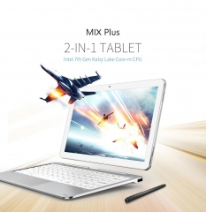 Cube Mix Plus 2 in 1 Tablet PC 10.6 inch Windows 10 IPS Capacitive Screen Bluetooth 4.0 OTA OTG Silver 4GB+128GB