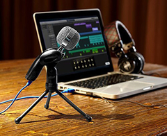SF-922B USB Condenser Sound Microphone Clear Digital Sound Black One size none