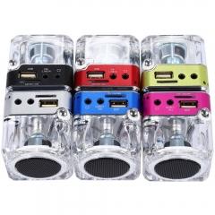 NiZHi TT029  Mini Portable Multimedia Speaker Support Micro SD USB FM Radio Deep Pink One Size