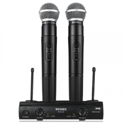 WEISRE PGX58 VHF Dual Wireless Microphone with Receiver for Karaoke Black One size WEISRE PGX58