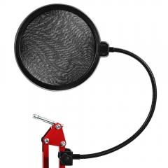 Flexible Mic Microphone Studio Wind Screen Pop Filter Mask Shield Black One size none