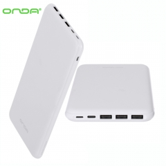 Onda N200T Mobile Power Bank Three USB Output Super Large Capacity 8 Pin Type-C Interface White 20000mAh