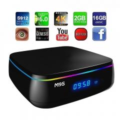 M9S MIX TV Box 2.4G + 5G Dual Band WiFi Bluetooth 4.0 2G DDR3 RAM + 16G eMMC ROM Black