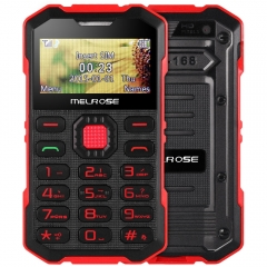 MELROSE S2 1.7 inch Ultra-thin Outdoor Card Phone GSM Camera Bluetooth Single SIM Scratch Resistant Red