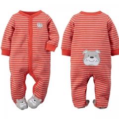 Carters Newborn Baby Boy Clothes 100% Cotton Infant Romper Long Sleeve Baby Girl Romper Jumpsuit blue 6-9m