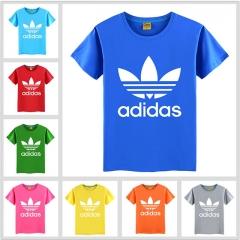 Summer Fashion Adidas Girl Top Printed Baby Boy T-shirt Short Sleeve Children Clothes Cotton Kid Tee