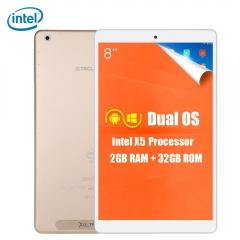 Teclast X80 Power Tablet PC 8.0 inch Intel Cherry Trail Z8300 Quad Core 1.44GHz 2GB RAM 32GB ROM Golden intel cherry trail