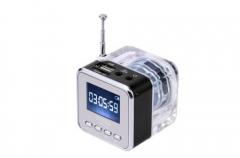NiZHi TT-029 Portable Usb Speaker with USB+TF card+Line in+Line out+FM radio Black 1.5V Lithium battery TT-029