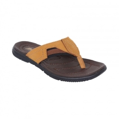 Leather Slippers Brown 8