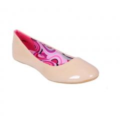 Patent Leather Ballerina Flat Beige 7