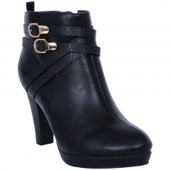 High Heel Ankle Boots Black 5