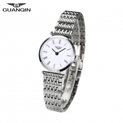 GUANQIN Stylish Casual Quartz Female Watch Full Stainless Steel Wristwatch 01#