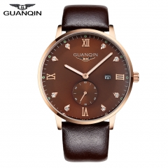 Retro Style Genuine Leather 10 ATM Waterproof  Luminous Watch brown