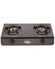 MIKA Kitchen Gas Stove Non Stick Double Burner - MNSD1400SC