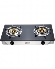 MIKA Kitchen Gas Stove Stainless Steel Double Burner -  MGS7100