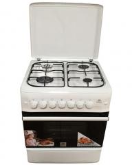 MIKA MST55PI4GWH/HC  4 Burner Gas Oven & Grill - White