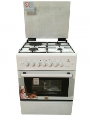 MIKA MST60PI31WH/SD 3 Gas Burner & 1 Electric Hot Plate with Oven & Grill - White