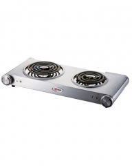 MIKA MHP22SS Double Hot Plate - White