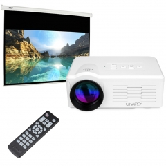 Uhappy Multimedia Mini LED Projector Home Theatre cinema 640*480 White One size
