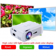 Excelvan mini portable Multimedia LCD LED Projector 800x480 pixels 1000 lumens Home theater cinema White 37 to 130 inches