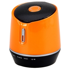 S05B Mini Bluetooth Speaker Portable Music Speaker with Hands-free Call Orange One size