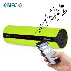 Multifunctional Portable KR8800 Matte Wireless Bluetooth V3.0 NFC Speaker with LED Screen FM Radio Green One size