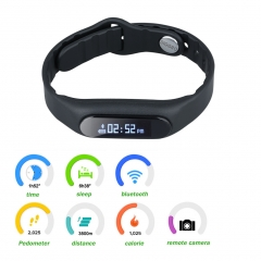 Bluetooth Smart Watch For Android IOS Black One size