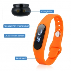 Bluetooth Smart Watch For Android IOS Orange One size