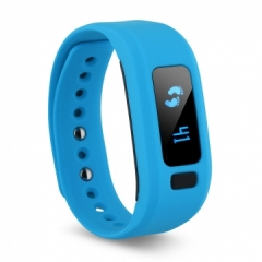 Bluetooth V4.0 Sports Smart Watch Bracelet Wrist Calorie Alarm for Android IOS Blue One size